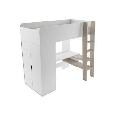 Jednoosobowe łóżko piętrowe z materacem bonellowym