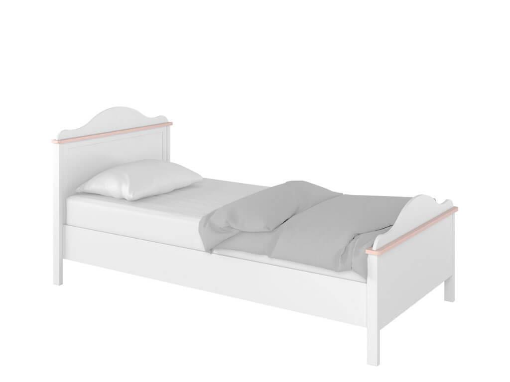 Łóżko z materacem bonellowym i szufladami na pościel