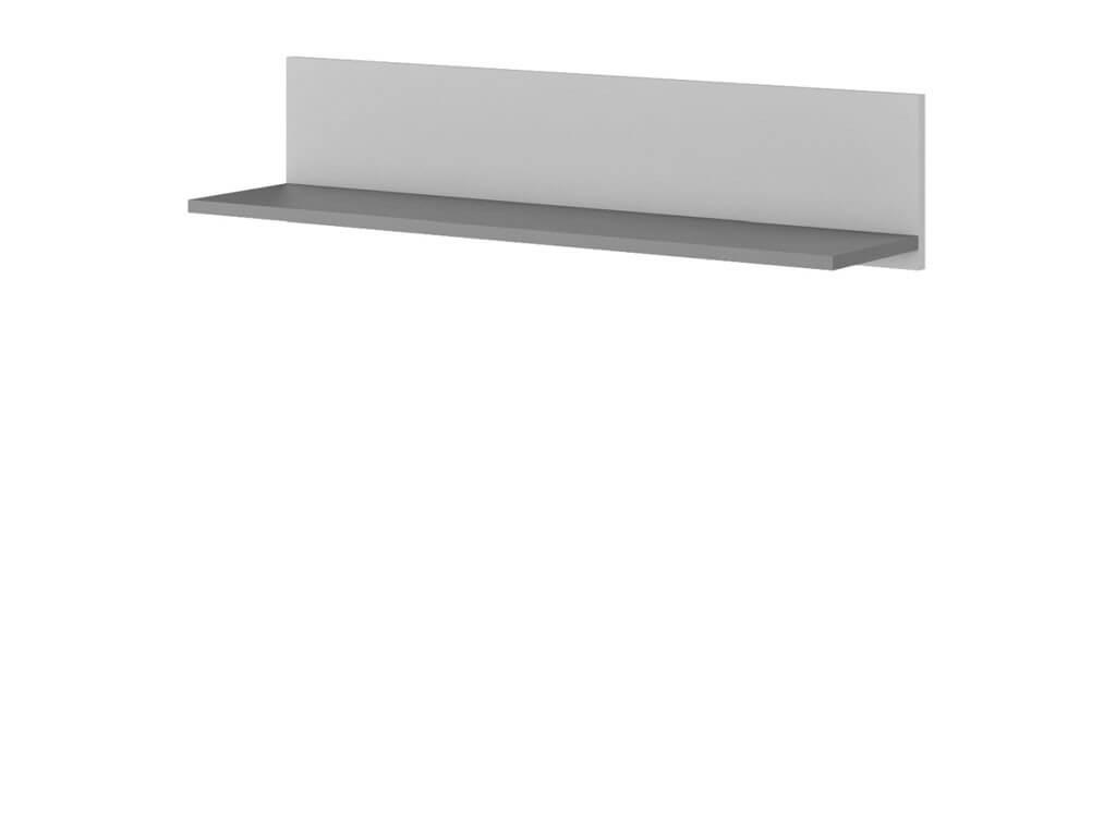 półka wisząca szara
