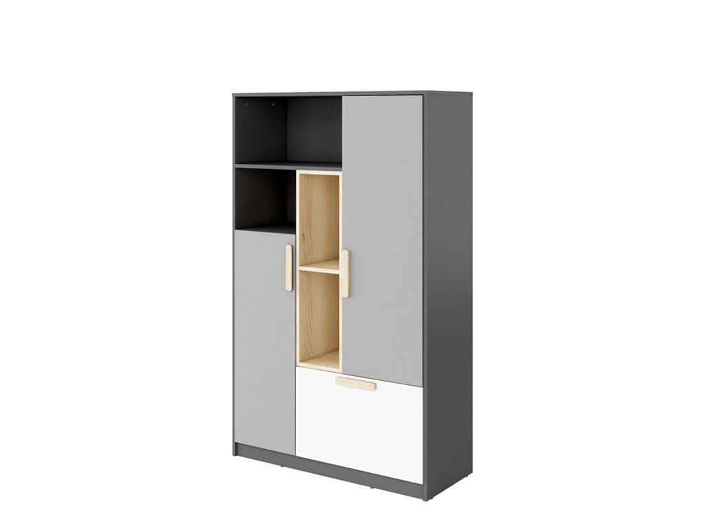 regał z dwojgiem drzwi i dużą szufladą