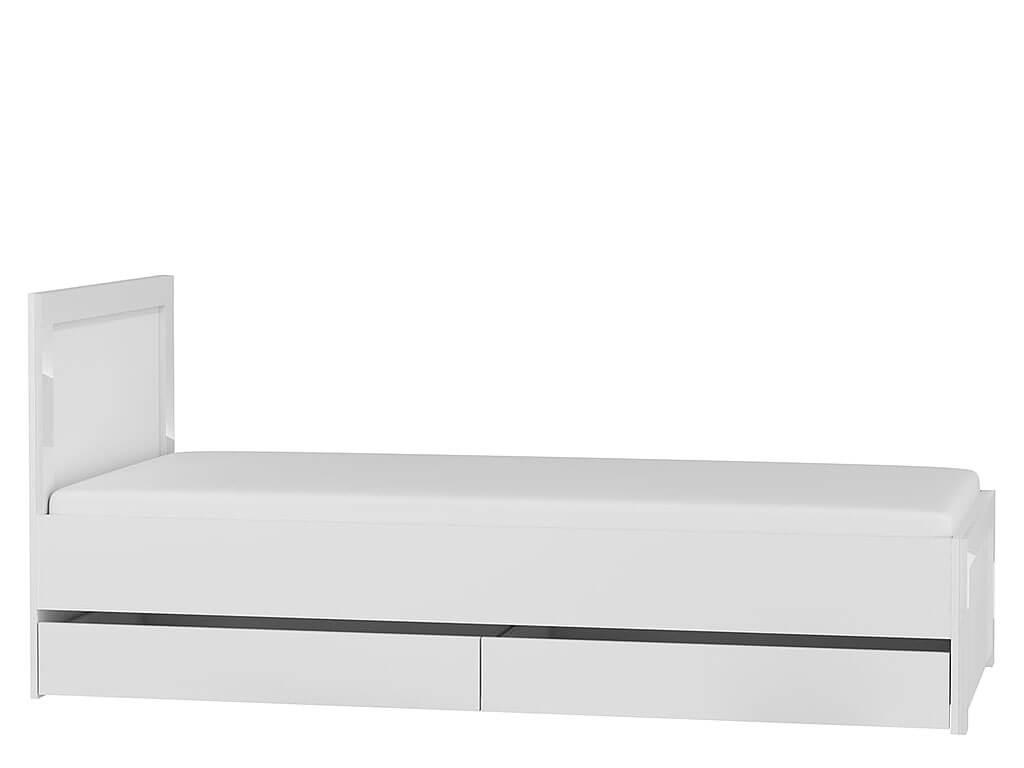 białe łóżko młodzieżowe Alaska AAL-1