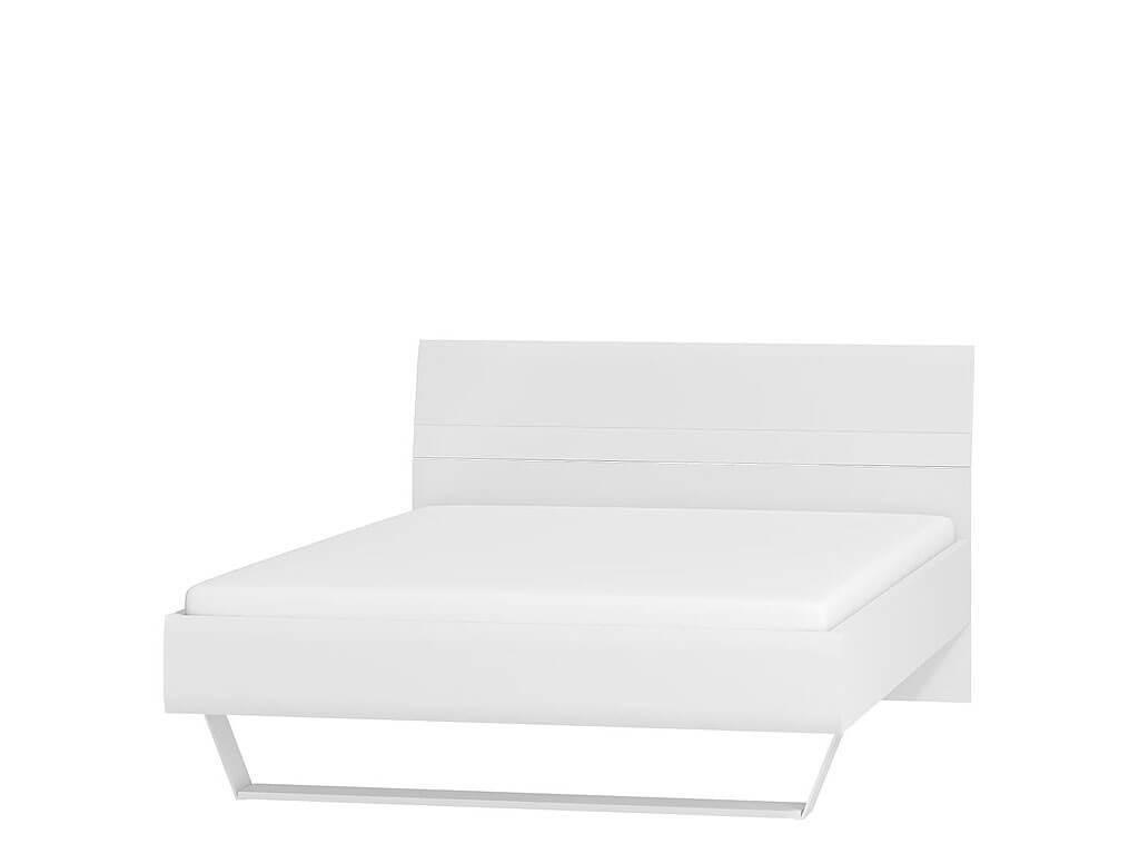 śnieżnobiałe łóżko 140x200
