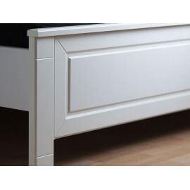 biały stelaż łóżka #2
