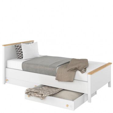 łóżko z komfortowym materacem bonellowym