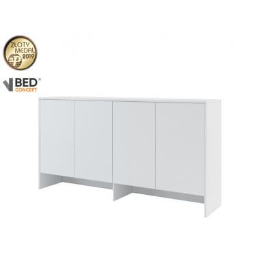 biała nadstawka na łóżko