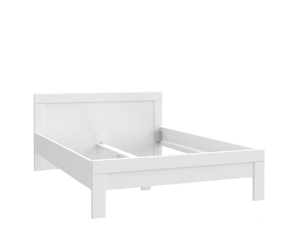 Dwuosobowe białe łóżko Snow
