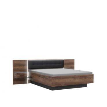 Nowoczesne łóżko z szafkami nocnymi