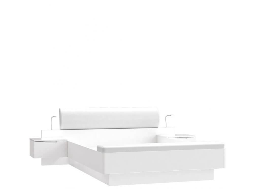 Białe łóżko do sypialni Starlet White