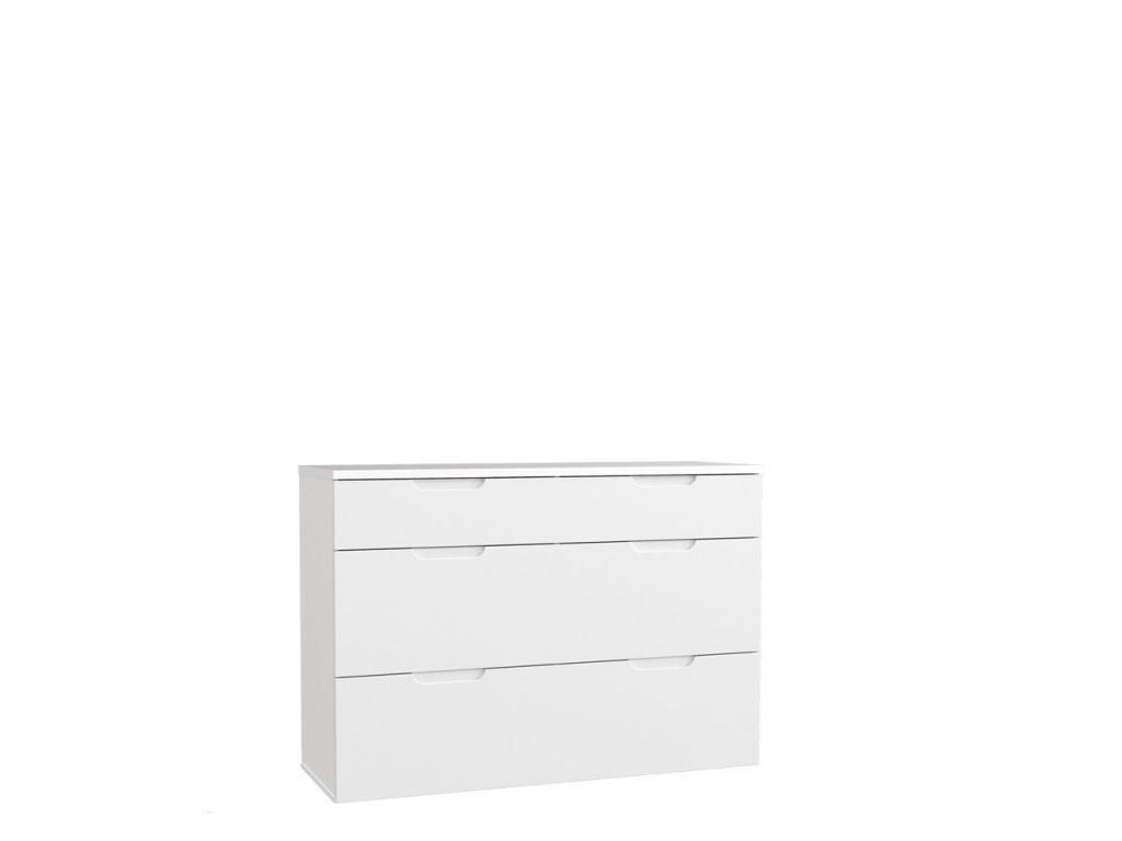 Nowoczesna biała komoda do sypialni Starlet White