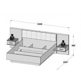 Łóżko + szafki nocne BLQL161B #3