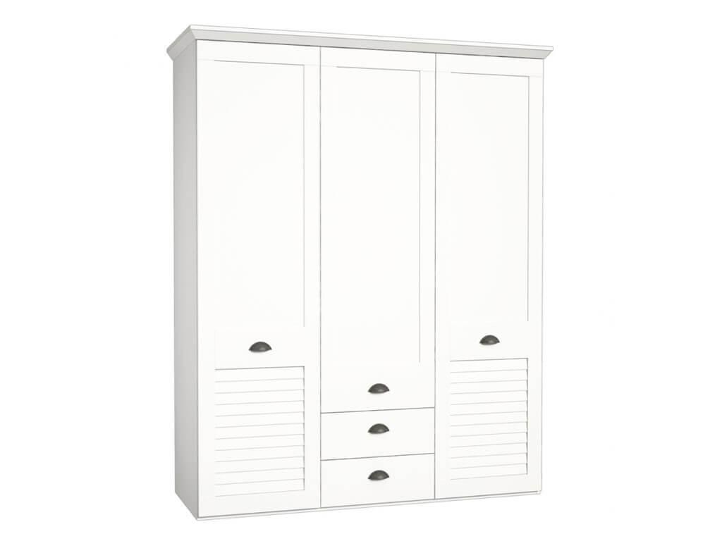 Biała duża szafa ubraniowa Marida