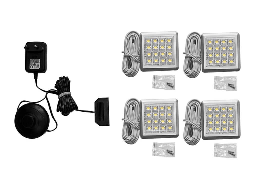 Zestaw oświetlenia LED 4-punktowy IZLED09-04-WW01