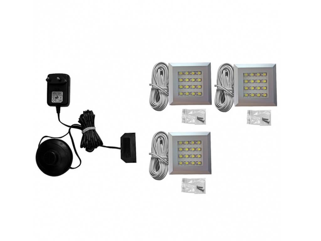 Zestaw oświetlenia LED 3-punktowy IZLED09-03-WW01